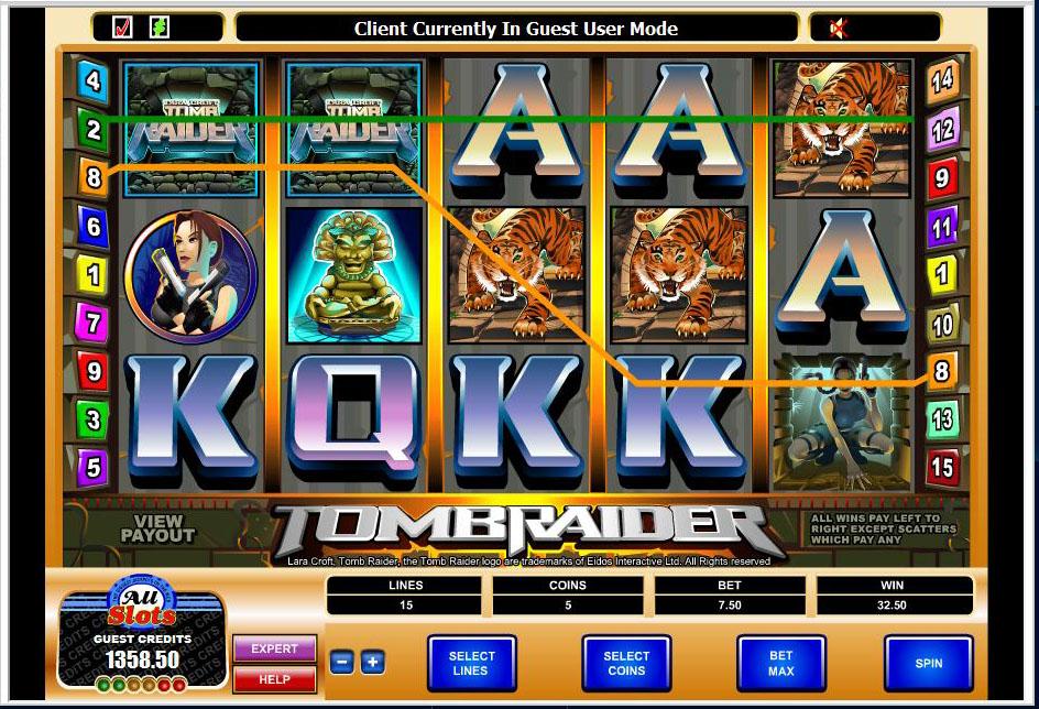 Thomb raider slot game